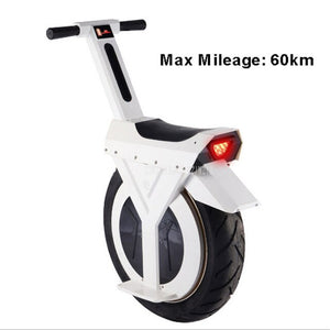 Mileage 60km Electric Unicycle One Wheel Balancing Unicycle Electric Scooter Self Balance Electric Scooter 500W Lithium Battery - virtualdronestore.com