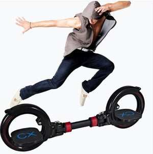 New Upgrade 2 Two Wheels Skate Board Two Parts Roller Foldable Drift Skateboard stunt scooter for Extreme Sports - virtualdronestore.com