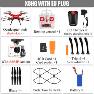 SYMA X8G X8HG X8HW Headless Mode 2.4G 6-Axis Drone with 8MP Camera 3D Roll RC Quadcopter Helicopter Transmitter BNF Version Toys - virtualdronestore.com