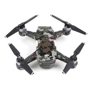 Waterproof Camouflage Graphic Camera Drone Decals for DJI SPARK Drone Body/ Battery/ Arm Drone Accessories - virtualdronestore.com