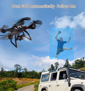 Professional Wifi FPV RC drone X21  Brushless double GPS RC Quadcopter with 1080P Gimbal Camera Follow Me Surround  vs B2W B6 - virtualdronestore.com