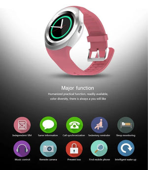 Smart Watchs Round Support Nano SIM &TF Card With Whatsapp And Facebook Men Women Business Smartwatch For Android Phone - virtualdronestore.com
