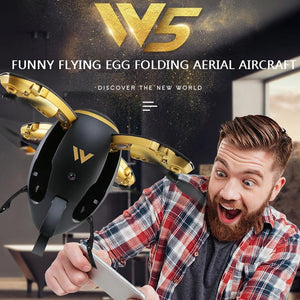Transformable Egg Drone High Performance Mini Exquisite 0.3MP HD Camera ABS Wireless App Control Aircaft Folding RC Quadcopter - virtualdronestore.com