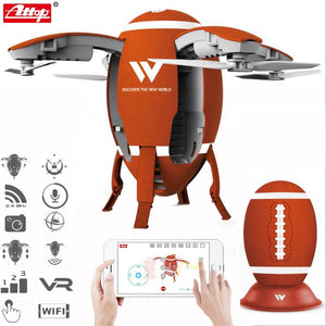 Attop W5 2.4GHz Foldable Flying Egg Drone WIFI FPV Foldable Selfie Drone RC Quadcopter with 0.3MP Camera Altitude Hold 3D Flips - virtualdronestore.com