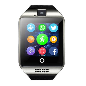 Smart Watch Clock Q18 With Sim Card Slot Push Message Bluetooth Connectivity Android Phone Better Than DZ09 Smartwatch Men Watch - virtualdronestore.com