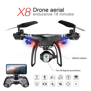 High Performance Drone Endurance 18 Minutes 360 degree Rolling Altitude Hold 480P/720P HD Camera FPV WIFI Quadcopter - virtualdronestore.com