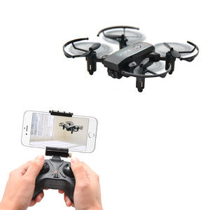 Mini Drones with Camera HD 0.3MP 2MP Drone Foldable Real Time Video Altitude Hold WIFI FPV RC Quadcopter Toys Dron - virtualdronestore.com