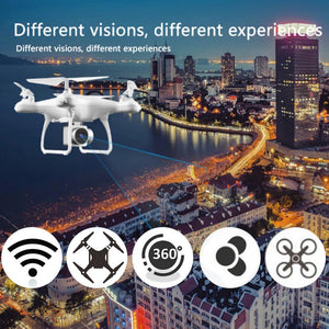 FOR HJMAX RC Quadcopter Kid Toy Training Wi-Fi Supper Endurance Drone Built-in 1080P HD Camera FPV RC Drone White black - virtualdronestore.com