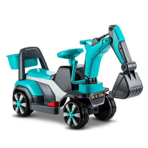 Children Toy Car Construction Excavator Four Wheels Electric Car with Music Kids Ride on Toys Plastic Ride on Cars for Children - virtualdronestore.com