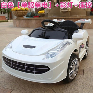 Children Electric Car Four Wheels Double Drive 2.4G Bluetooth Remote Control Car Baby Ride on Car Toddler Toys Kids Car Robot - virtualdronestore.com
