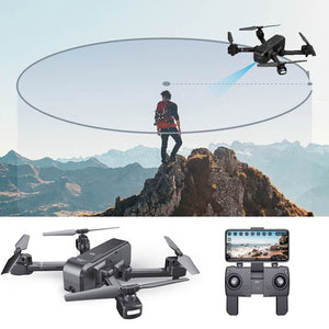SJ SJRC Z5 Foldable GPS Drone Rc Quacopter 1080HD Camera FPV wifi Follow me mode Circle Flying Way-point - virtualdronestore.com