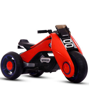 Children's Electric Motorcycle Toy Car with Early Education Function Baby Ride on Toy Car Can Sit on Double-engine Motorbike - virtualdronestore.com