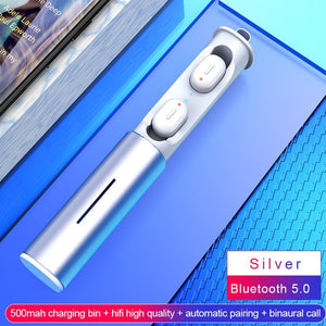 Mini T1 TWS V5.0 Bluetooth Earphone 3D True Wireless Stereo Earbuds With Mic Portable HiFi Deep Bass Sound Cordless Dual Headset - virtualdronestore.com