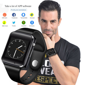 Smart Watch Sport Wristwatch With Camera SIM Card Dial Call Sync SMS Touch Screen Smartwatch For Apple IOS Android - virtualdronestore.com
