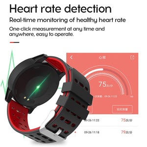 MAFAM Smart Watch Men Women Heart Rate Blood Pressure Oxygen Monitor Fitness Tracker Alarm Reminder Smartwatch Clock Sport Watch - virtualdronestore.com