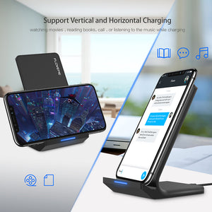 FLOVEME Universal Qi Wireless Charger For iPhone X XS XR 10W Fast Charger USB Wireless Charging For Samsung Galaxy S8 S9 Note 8 - virtualdronestore.com