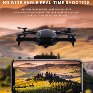 Foldable Drone Wifi FPV 480P/720P HD Camera High Fixd Headless Mode One Key Take-off with Remote Control Quadcopter - virtualdronestore.com