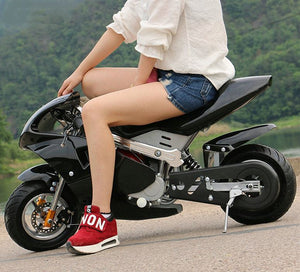 4-stroke 49cc two-wheel small off-road mountain mini motorcycle child petrol card moped - virtualdronestore.com