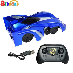 Aiboduo Electric RC Car Toys ABS Rechargeable Wall Climbing Stunt Car Suction Remote Control Car Toy Gift - virtualdronestore.com