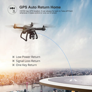Holy Stone HS700 GPS Drone with Camera HD 1080P 1000m Range 20min Flight Brushless Motor 5G Wifi 1080P Helicopter - virtualdronestore.com