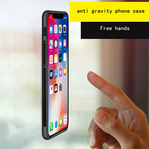 Anti Gravity Phone Case For iPhone XS Max XR X 8 7 6 S 6S Plus Antigravity Magical Nano Suction Cover Adsorbed Car Case - virtualdronestore.com