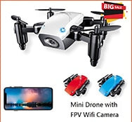 Global Drone GW009C-1S Mini Drone 2.4GHz 4CH 6 Axis Gyro Altitude Hold Camera Drones RC Drone VS H36 - virtualdronestore.com