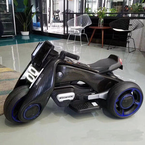 Children electric motor   one key start   with a number of children's music boy and girl toy car dual drive motorcycle ebike - virtualdronestore.com