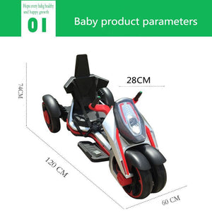 Children's Electric Motorcycle Suitable for 7-12 Year Old Baby 12V7A safe and comfortable Three wheeled motorcycle Ebike - virtualdronestore.com