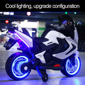 Electric Motorcycle  Children's electric car  suit for 2-10years old  boys and girls 12V  Safe and reliable - virtualdronestore.com