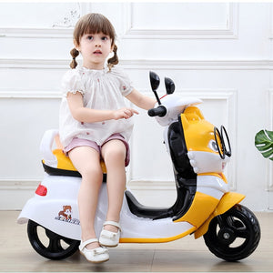 Children Electric Motorcycle Three Wheels Electric Car for Kids Ride on 1-3-6 Years Charging Music Motorcycle Electric Trike - virtualdronestore.com