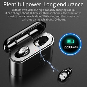 X8 TWS True Wireless Earbuds 5D Stereo Bluetooth Earphones Mini TWS Waterproof Headfrees with Charging Box 2200mAh Power Bank - virtualdronestore.com