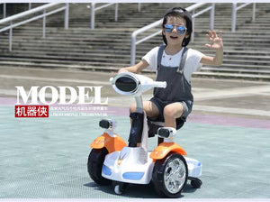 Fashion Children' Remote Control Car Balance Motor Van Ride on Electric Toys Kids RC Ride on Car Five Wheels Bumper Scooter Car - virtualdronestore.com
