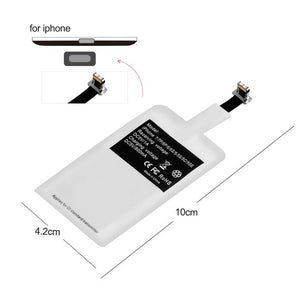 Ultra Thin Led Wireless Charging Pad For iphone XS X 8 Plus Samsung Huawei Mate 20 Pro Charger - virtualdronestore.com