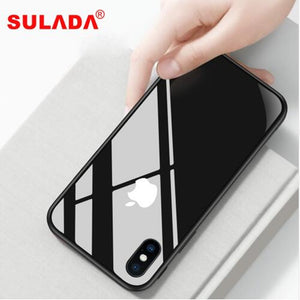 Luxury Nano Glass Phone Case For iPhone XR XS Max XS Metal Frame Back Cover For iPhone X 6 6s 7 8 Plus - virtualdronestore.com