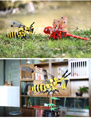 Wings Simulation Insect Hand Hornet Bee Dragonfly Puzzle DIY Assembled Spell Inserted Decompression Clicking Building Blocks - virtualdronestore.com