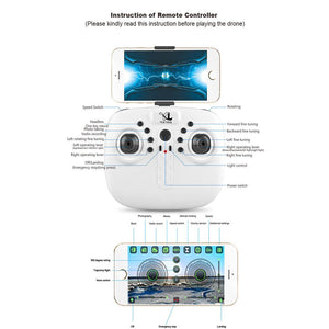 Exquisite UAV RC Quadcopter Aircraft Drone Headless Mode Stunt Rolling Folding HD Camera White 2MP - virtualdronestore.com