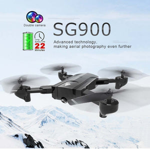 SG900 wifi Dual Camera RC Drone HD Camera Drone Foldable Gesture 2.4G  4CH Camera Control Drone, long flight time Photo Video - virtualdronestore.com