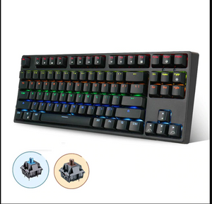 RK Royal KLUDGE Sink87G Mechanical Gaming Keyboard Blue Brown Switch Wireless 2.4G RGB LED Backlight for PC Laptop Notebook LOL - virtualdronestore.com