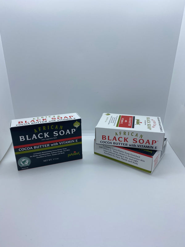 African Black Soap with Cocoa Butter