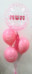 Personalised Bubble Mother's Day Bouquet