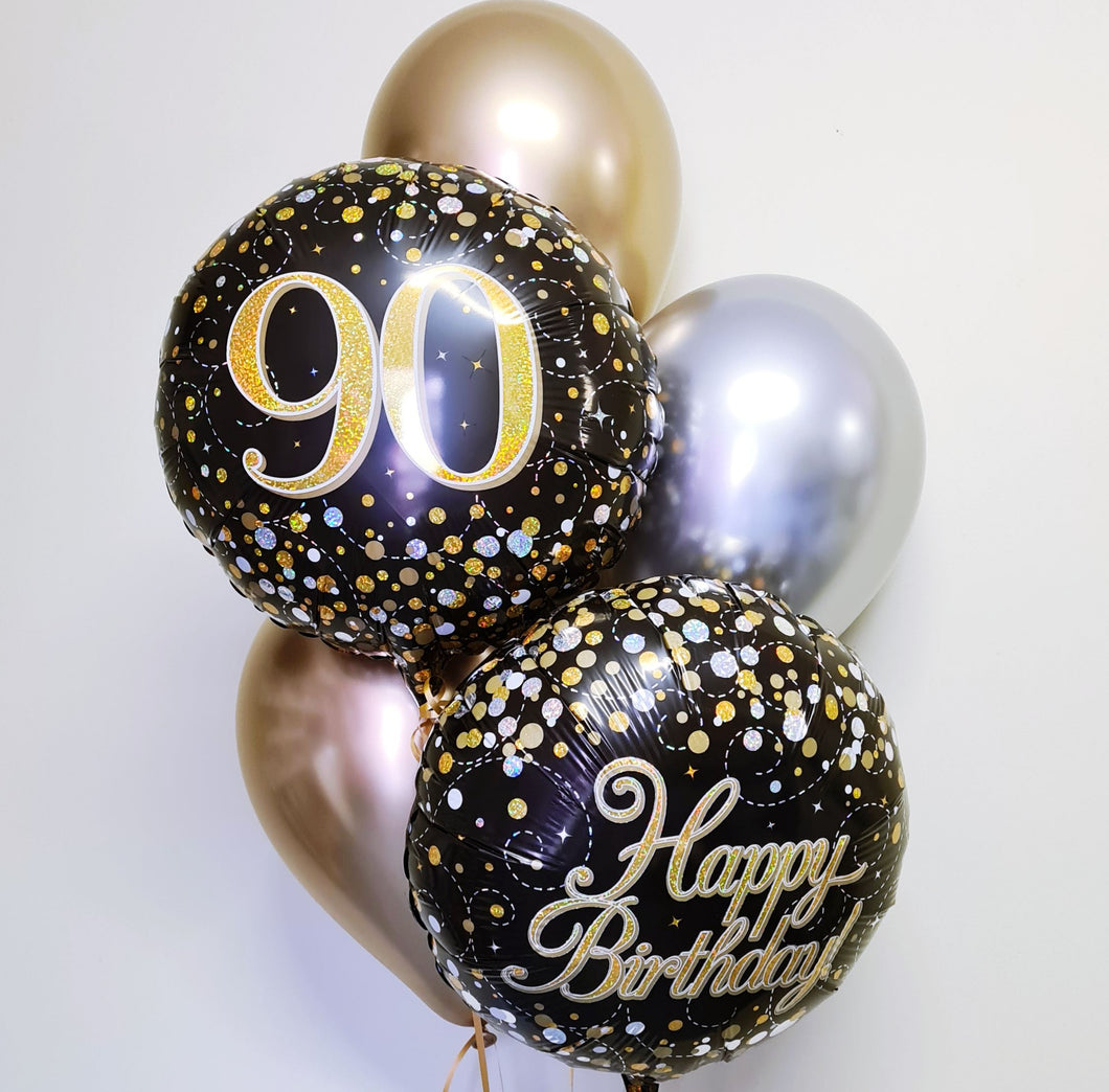 Fizz Black and Gold Birthday Bouquet