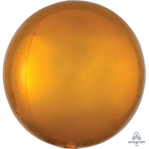 "GOLD Orbz Balloon 40cm (16"") - Helium Filled"