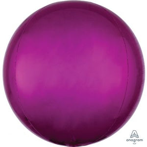 "BRIGHT PINK Orbz Balloon 40cm (16"") - Helium Filled"