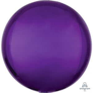 "PURPLE Orbz Balloon 40cm (16"") - Helium Filled"