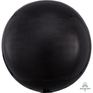 "BLACK Orbz Balloon 40cm (16"") - Helium Filled"