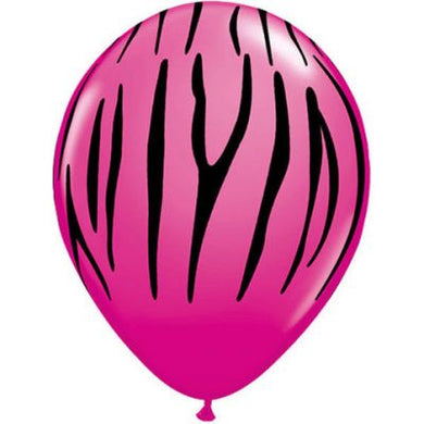 Single Printed 28cm Balloon with ribbon