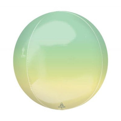 YELLOW & GREEN Ombre Orbz Balloon 40cm (16