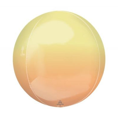 YELLOW & ORANGE Ombre Orbz Balloon 40cm (16