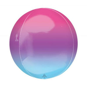"PURPLE & BLUE Ombre Orbz Balloon 40cm (16"")"