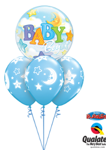 Baby Boy Moon & Stars Bubble Layer
